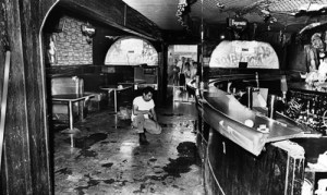 Inside the Silver Dollar Bar where Ruben Salazar was killed on August 29, 1970.