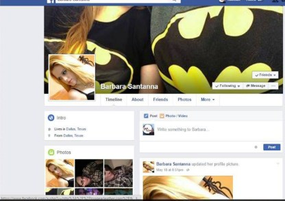 The Blackmailer's Facebook Profile