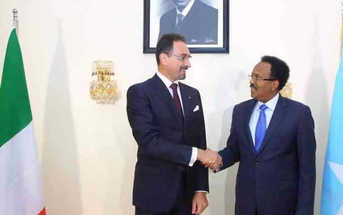 Dalalka Sweden & Talyaaniga oo Safiiro cusub usoo magacaabay Somalia & Madaxweynaha oo qaabilay