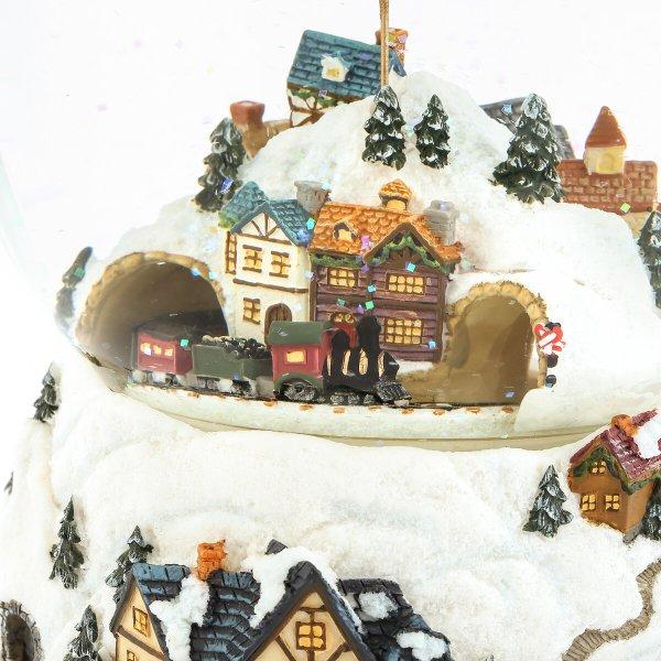 """Jingle bells"" Flying Santa Claus and Christmas Train Snow Globe Music Box (Musical Box Water Globe / Snow Domes Christmas Collection)"