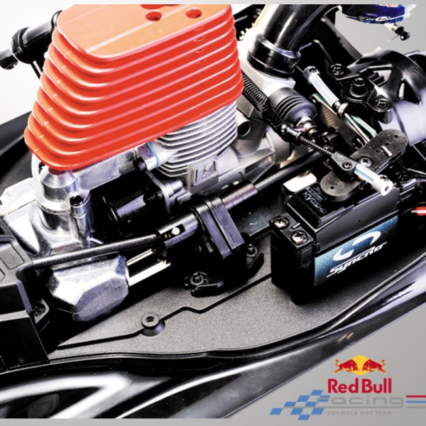 """-""""Gas Powered RC Car""""- Red Bull RB7 Formula One Racing Car (1:7 Scale Model Red Bull Racing RB7 RC Nitro F1 Car Full Kits)"""
