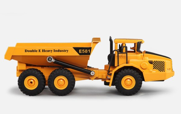 Simulation RC Articulated Dump Truck Toy, Electric Remote Control Construction Vehicle (Construction Equipment, Construction Machinery, Sand Game Toy Car, Outdoor children's beach toy)