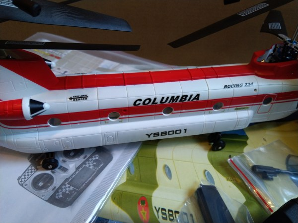 Columbia Helicopter CH-47D Boeing Vertol 234 Chinook RC Helicopter Scale Model (Walkera YS8001 Metal Upgrade With WK-2402 Transmitter Chinook Tandem Rotor Helicopter, Twin Coaxial RC Helicopter)