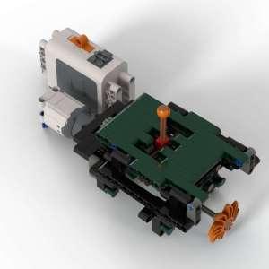 """5+R Gearbox My Own Creation""- Technic MOC ""Car Manual Gearbox With Reverse Gear"" Custom Bricks. (MOC Custom Bricks, Compatible Building Blocks Bricks)"