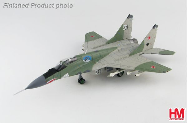 Hobby Master Collector 1/72 Air Power HA6501 Russian Air Force Mikoyan MiG-29 (9-13) Fulcrum-C White 51 Jet Fighter, Borisoglebsk training center, summer 2001 (Military Airplanes Diecast Model, Pre-built Aircraft Scale Model)