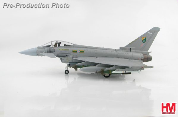 """Hobby Master Collector 1/72 Air Power HA6601 Royal Air Force Eurofighter Typhoon Air Superiority Multirole Fighter, ZJ927 """"QO-M"""", 3 Sqn., RAF, Libya 2011 (Military Airplanes Diecast Model, Pre built Aircraft Scale Model)"""