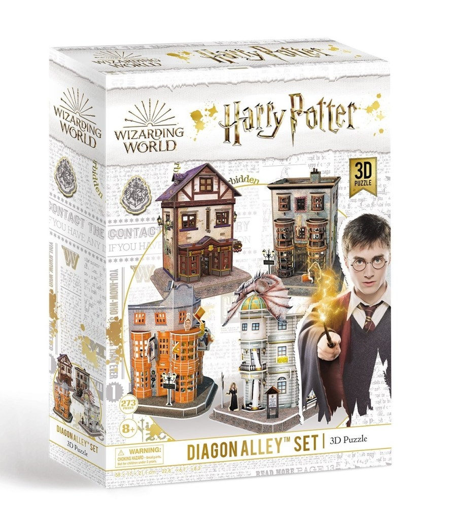 Harry Potter Diagon Alley Paper Jigsaw Puzzle, Weasley's Wizard Wheezes, Quality Quidditch Supplies, Ollivanders Wand Shop, Gringotts Bank. gryffindor, hufflepuff, vans harry potter, dumbledore, hogwarts, harry potter and the cursed child, harry potter wizards unite.