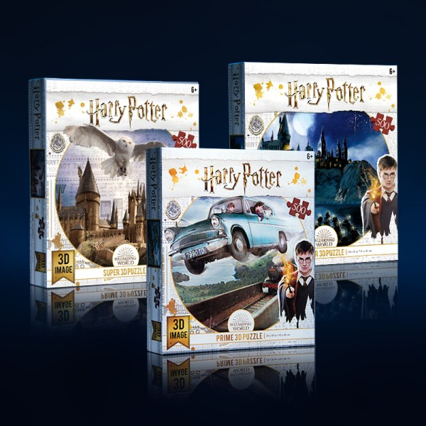 Cubicfun Toys Cubic-Fun Paper Jigsaw Puzzle, 3D Lenticular Printing Image, Harry Potter 500 Pieces Jigsaw Puzzle, Fan Collection, Stay with kids toys,