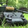Most of the time Sherman tanks were getting fired upon in 1944 it was not by enemy tanks but by concealed German anti-tank guns and hand held panzerfaust.
