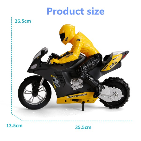 """OMNI-WHEEL TECHNOLOGY, The world's first omnidirectional RC motorcycle wheel"""" (Gizmodo) has revolutionized the RC experience. This breakthrough technology in the rear wheel features 16 smaller perpendicular wheels allowing Upriser to balance and move in any direction with ease."""