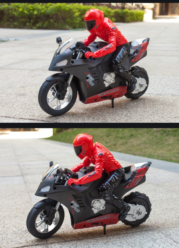 Designed in partnership with world-renowned motorcycle maker Ducati, Upriser is the first ever RC motorcycle to balance with no support.