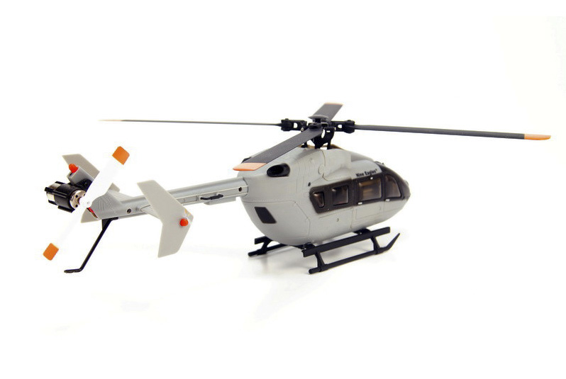 Eurocopter EC145 / Airbus Helicopters H145 Light Utility Helicopter RC Scale Model Helicopter, Nine Eagles (NE-R/C-130A-EC145-AG) SOLO PRO 130 EC145 6CH Flybarless 4 Rotor Blades, Brushless Motor, Micro RTF (Army Gray) Remote Control Helicopter with 2.4GHz Radio J6 PRO Transmitter.