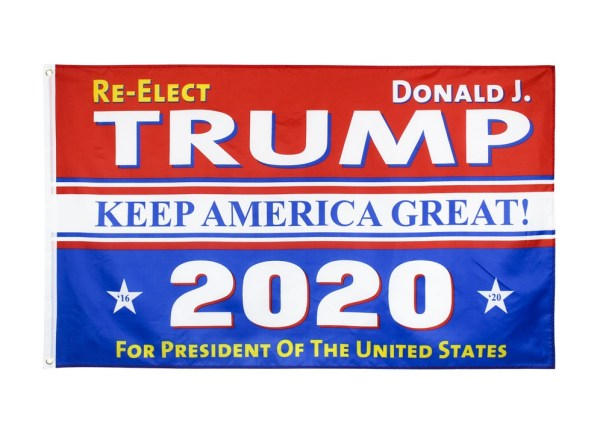 """""""Re-Elect Donald J. TRUMP KEEP AMERICA GREAT 2020 For PRESIDENT OF The UNITED STATES"""" Donald Trump 2020 Presidential Campaign Flag, Trump Campaign Slogan & Logos & Poster & ads & Banners. (3FT x 5FT, 90cm x 150cm, 35in x 59in) Trump Sure to Win Flag"""