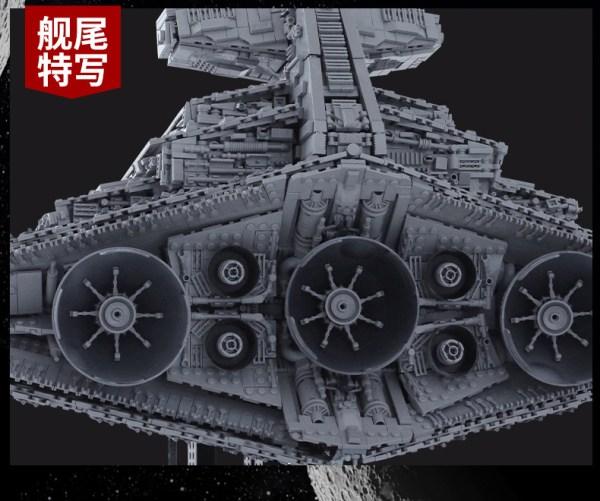 11885 Pieces Bricks, Huge Size 118cm! Imperial Star Destroyer Monarch (MOC-23556, MOULDKING 13135) Custom Building Blocks Bricks. Compatible With 75252 Star Wars Imperial Star Destroyer.