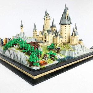 6862 PCS Building Blocks Bricks to build Hogwarts School of Witchcraft and Wizardry Diorama Scene, MOC MOULD KING 22004 Hogwarts School Miniature Scenes Custom Building Blocks, Compatible With 71043 Harry Potter Hogwarts Castle Map 3D Layout Building Blocks Toy Set