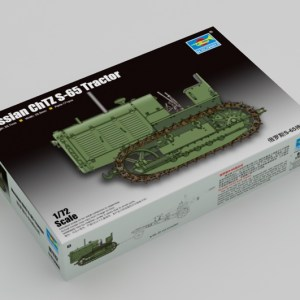 Trumpeter 07112 Plastic Scale Model Kits, 1/72 Russian ChTZ S-65 Tractor (Stalinets S-65 Tracks Tractor) Model Building Kits. WWII Soviet Army Agricultural Military Armor Tractor Plastic Model Making Kit