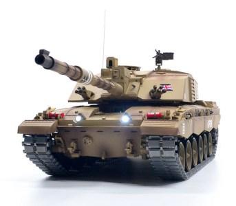 Heng Long 3908-1 British Challenger II Metal Tracks Metal Gearbox RC Tank Smoke, Sound, Shot Military Vehicle Toy