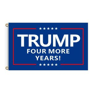 """Blue """"TRUMP FOUR MORE YEARS!"""", 2FT, 3FT, 5FT, Donald Trump for President 2024, TRUMP 2024 Banner, TRUMP 2024 Flag, Trump 2024 United States Presidential Plection Merchandise"""