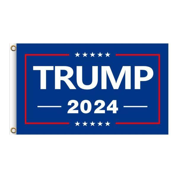 "Blue ""TRUMP 2024"", 2FT, 3FT, 5FT, Donald Trump for President 2024, TRUMP 2024 Banner, TRUMP 2024 Flag, Trump 2024 United States Presidential Plection Merchandise"