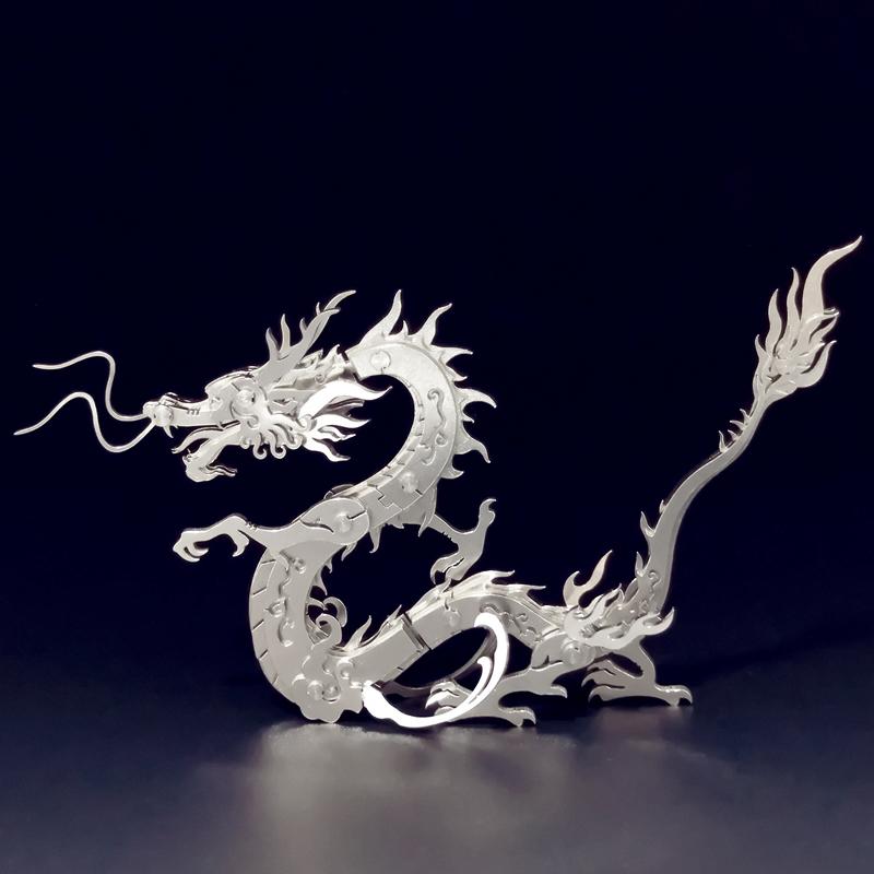 Dragon Crafts, Dragon artwork, 3D Stainless steel full metal Dragon Art, Decoration Dragon, Room Decoration Dragon, Desktop mascot Dragon