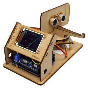 Real Working Radar, DIY Mini Desktop Ultrasonic Radar Full Kits, Mini Radar Arduino A real radar toy that can transmit/receive and process ultrasonic waves