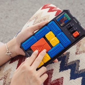 The latest electronic technology, transforming 2D PC Sokoban games into 4D dimensions, 500+ levels puzzle game, Hand-held physical Sokoban game console, Maze escape handheld game Device