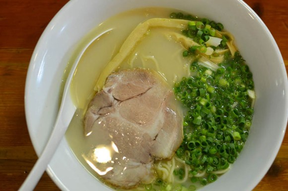 Salt Ramen with Whitish Chicken-Bone Soup, Sapporo Ramen, Nanabe