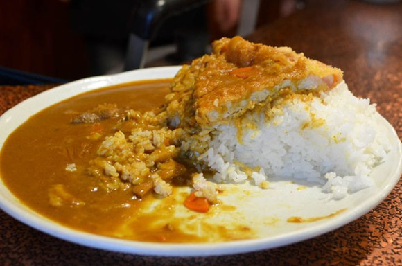 Extremely Large Portion Curry and Rice with Fried Pork Cutlets -Marine in Takikawa City-