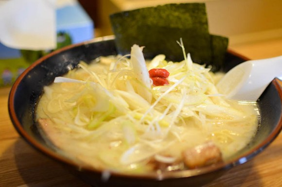 Salt Ramen with Green Onions -Namishibuki Kitami Branch-