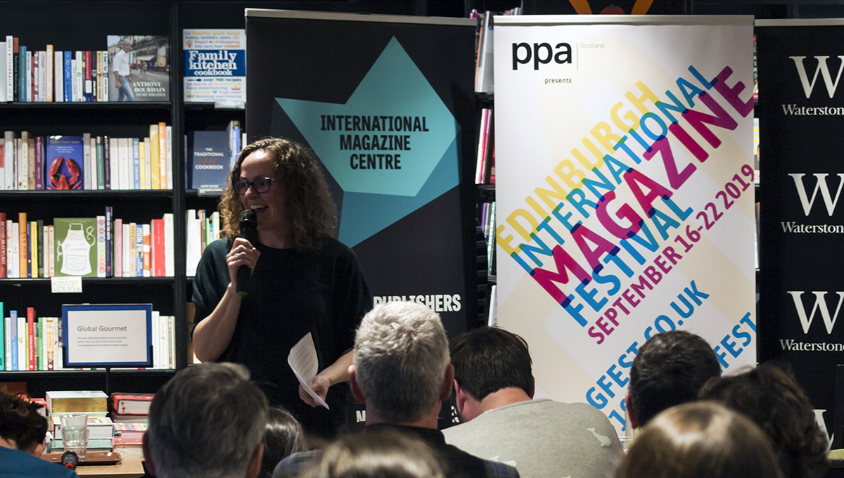 Nikki Simpson at the Edinburgh International Magazine Festival