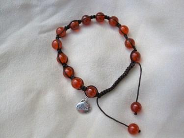 Carnelian Shambala believe bracelet