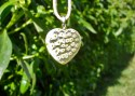 Heart necklace glass clear
