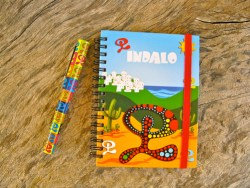 Indalo notebook and pen