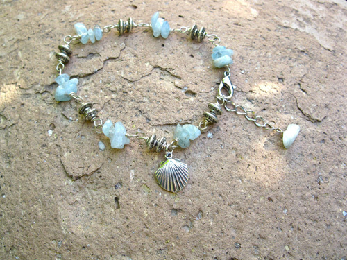 Camino travel bracelet - aquamarine