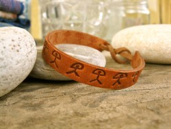 Bracelet leather Indalos