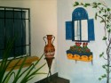 Painting Spanish pottery vase