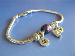 Zodiac bracelet Gemini star sign owl
