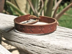 Indalo leather bracelet
