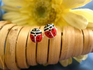 Ladybird earrings