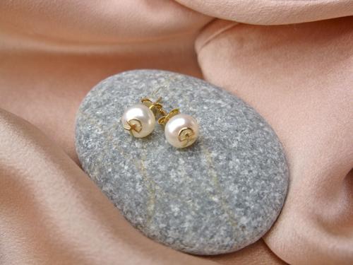 Indalo pearl earrings gold