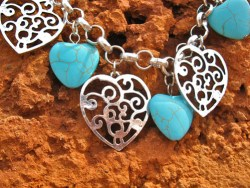 Symbolic bracelet - hearts