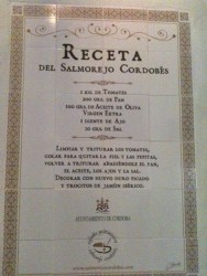 Recipe on house wall Cordoba