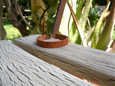 leather Indalo bracelet
