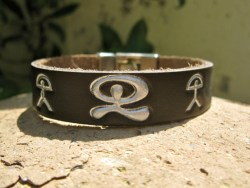 Indalo leather pulsera