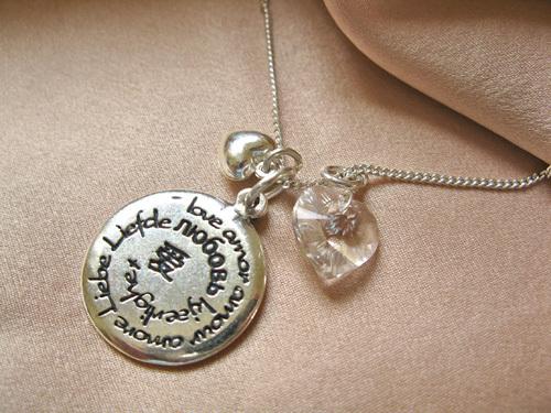 Love necklace with Aquamarine