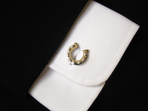 Horseshoe cufflinks have real meaning
