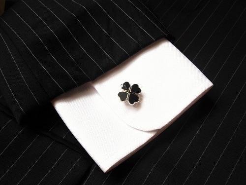 Clover cufflinks for good luck