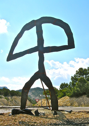 Indalo statue in Vélez