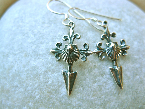 Saint James Camino earrings with shell