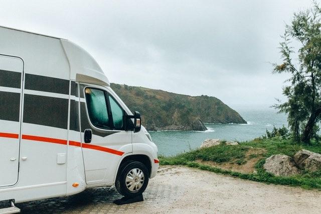 Camper van road trip journey